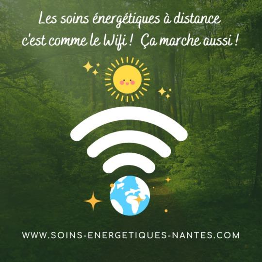 Les soins énergétiques à distance c'est comme le wifi cela marche aussi